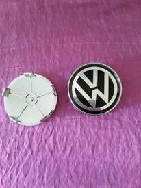 Set 4 vw wheel centre hub caps