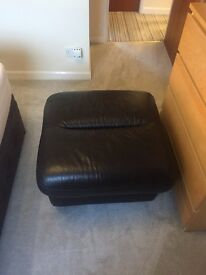 Brown Leather Foot stool