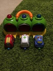 ELC lights and sounds garage complete with cars