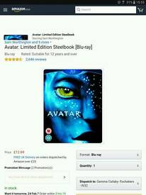 Brand new and sealed avatar steel book.
