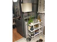Floor lamp with matching side table lamp