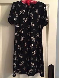 BNWOT Next Tea Dress in Floral Print
