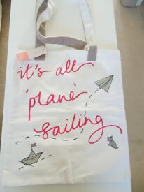 "Genuine RADLEY Tote Bag With ""Its All Plane Sailing""Motif On Front"