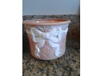 Terracotta Vases x 2 & Plant pot - all matching