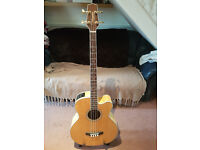 Takamine GB72CE - Natural acoustic bass, jumbo - Great Condition with gig bag
