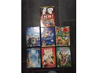 7 Disney Children's DVD's plus Princess Goodies