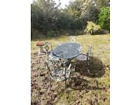 Garden table and chair set metal for sale
