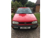 VW Golf 1.4L Red CLASSIC 11 MONTH MOT