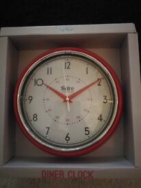 New in box retro wall clock