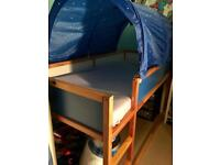 Ikea Kura Loft Cabin Reversible Bed with Canopy (mattress not included)