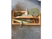 Wood lathe, accessories and chisels - £140 ono