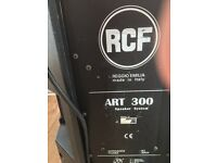 RCf speakers 300 watt each great sound perfect working order