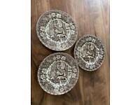 Royal Tudor Ware Coaching Tavern Plates x3