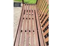 Wooden garden bench plus FREE 2 habitat wicker chair