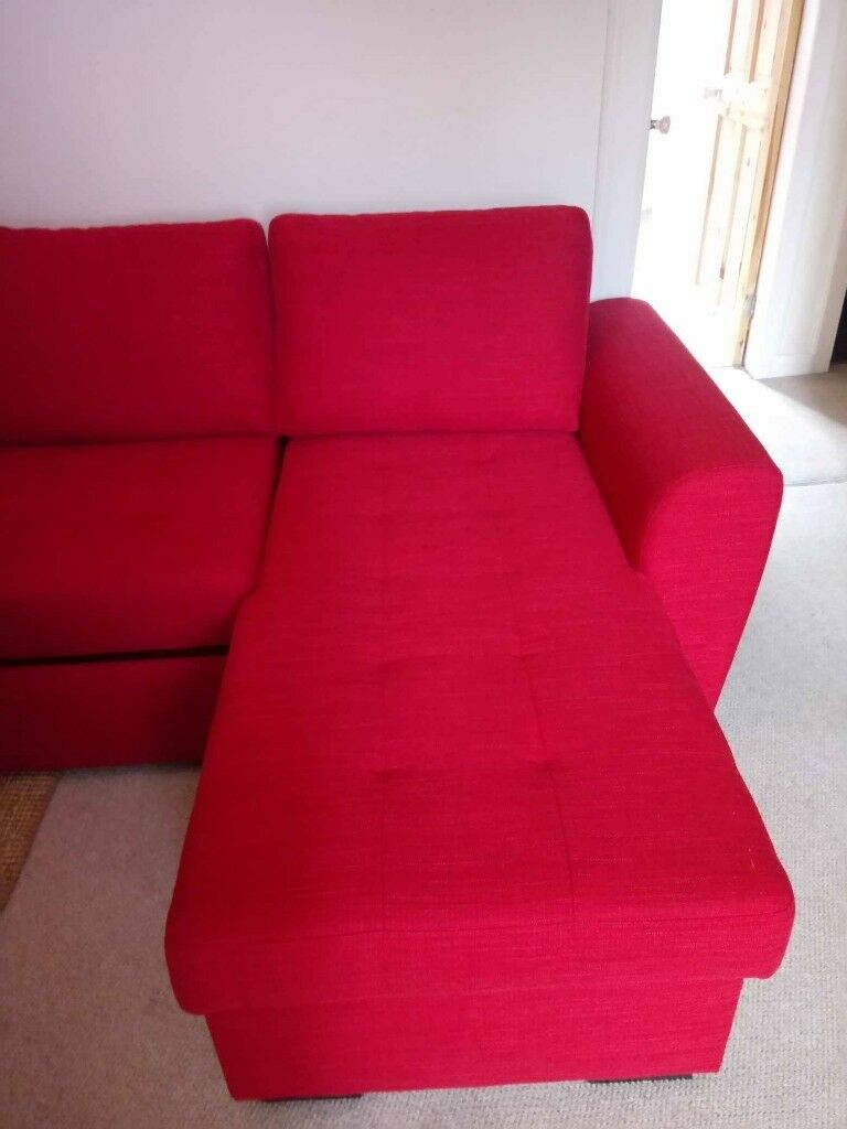 Next Almost New Quentin Corner Sofa Bed Red Right Or Left In Prestonpans East Lothian Gumtree