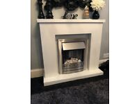 Electric fire (white and silver)