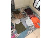 Ladies clothes tops bundle size 10-12 camis t shirts tops etc