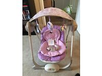 Chicco baby seat swing.