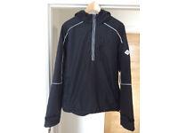 Henri Lloyd black hooded nylon pullover jacket size large mens