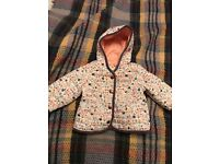 M&S beautiful girls coat 6-9 months