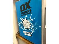 OX ENERGY DRINK FRIDGE