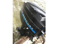 Outboard Boat Engine Mercury 7.5hp with fuel tank and lines VGC