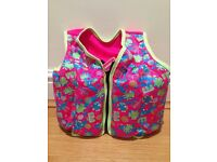 Speedo Sea Squad Girls Swim Vest Float Jacket / 3-4 Years or 18-22kg