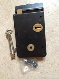 New Right hand Rim Lock with keeper and keys