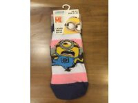 Despicable Me Minions ladies girls novelty socks UK size 4-8