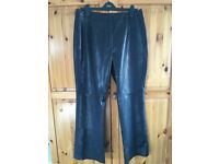 Next Leather look, PVC Trousers, Size 16, Regular length