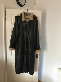 Ladies full Length Leather Coat
