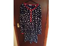 Blue fleecy nightdress size 10/12