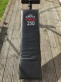 YORK 250 weight / sit up bench