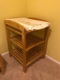 Excellent condition baby changing table