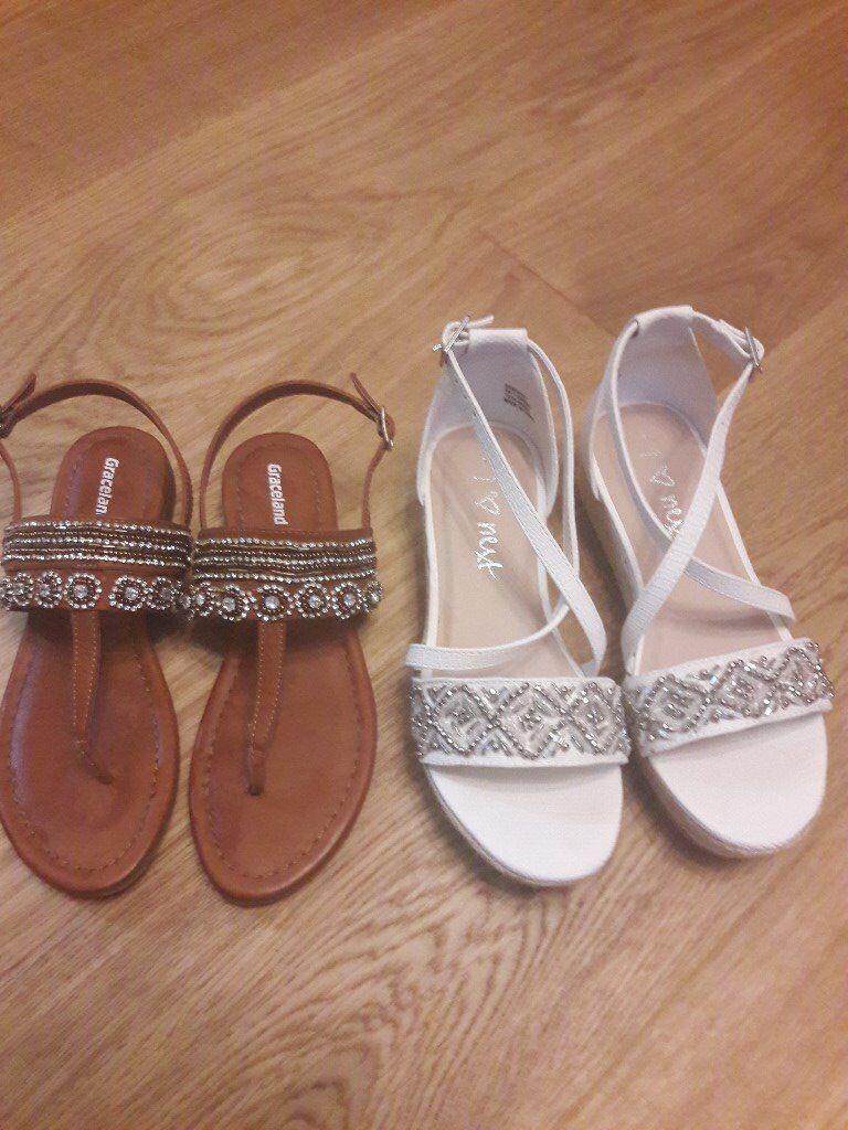 Girls Summer Sandals - Unused - Size 1