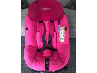 Pink child maxi cosi axiss fix car seat
