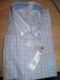Brand new, man's cotton checked shirt, M&S, XL