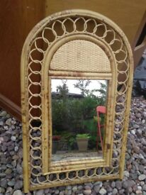 Rattan Framed Mirror