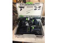 Festool pdc18 & quadrive autofeed screwgun for sale