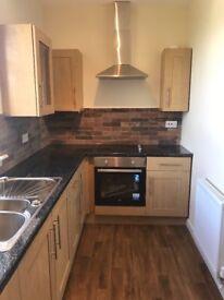 2 bedroom unfurnished new kitchen, new bathroom, decor central heating stevenston
