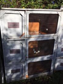 Three block rabbit guinea pig hutch