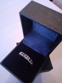 9 ct Yellow gold gem ring, new.