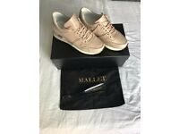 Women's Mallet trainer shoes Size UK 5 Suede sole leather lined Mallet embossed
