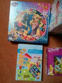 MB Elefun, Disney Tinkerbell, Tangled puzzle,