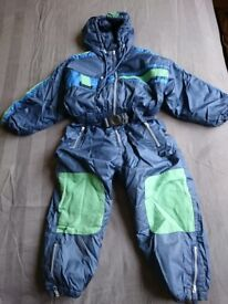 Snowsuit blue and green for sale