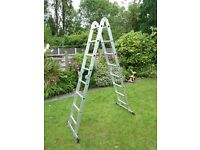 Folding Aluminium ladder - 4.68m