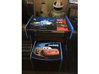 Cars Wooden Desk/Table & Stool