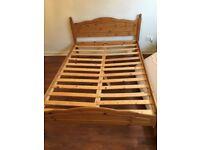 Double pine bedframe