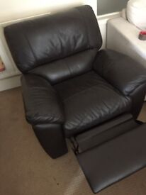 3 and 2 seater sofas and a chair and foot stool