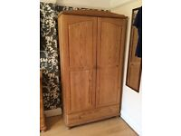Wardrobe,chest of drawers and shelving stacker unit set - solid pine - very good quality